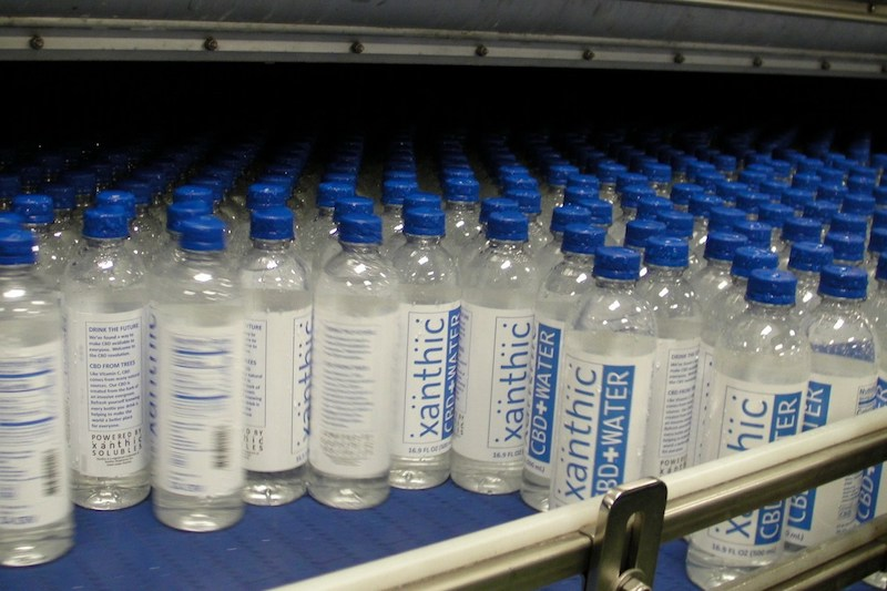 First Batch of Xanthic CBD Water Comes off Production Line