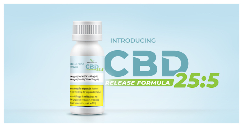 MediPharm Labs Expands Innovative CBD Product Portfolio By Introducing CBD25:5 Release Formula