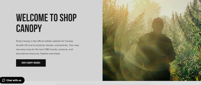 Canopy Growth's New Online Store Provides One-Stop Shop for Growing U.S. Product Portfolio