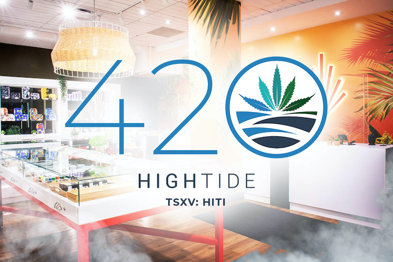 High Tide Reports Approximately $775,000 in Retail Sales on 4/20